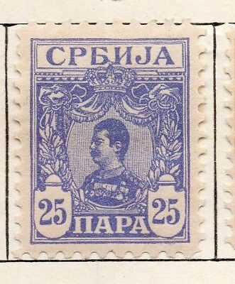 Serbia 1901-02 Early Issue Fine Mint Hinged 25pa. 150432
