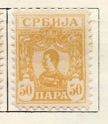 Serbia 1901-02 Early Issue Fine Mint Hinged 50pa. 150433