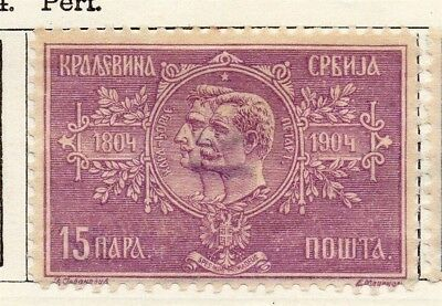 Serbia 1904 Early Issue Fine Mint Hinged 15pa. 150438