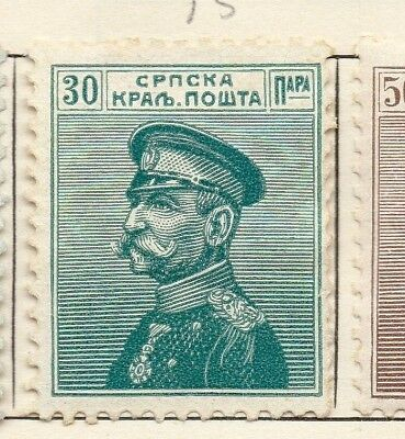 Serbia 1911 Early Issue Fine Mint Hinged 30pa. 150455