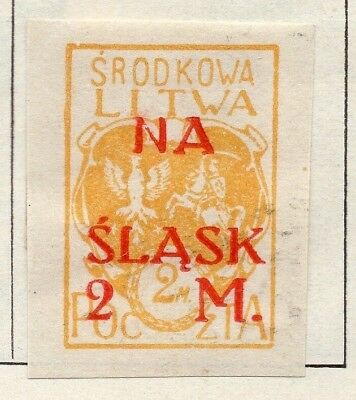 Lithuania 1921 Early Issue Fine Mint Hinged 2m. Surcharged 150521
