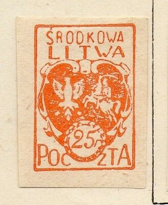 Lithuania 1920-21 Early Issue Fine Mint Hinged 25f. 150544