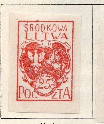 Lithuania 1920-21 Early Issue Fine Mint Hinged 25f. 150545