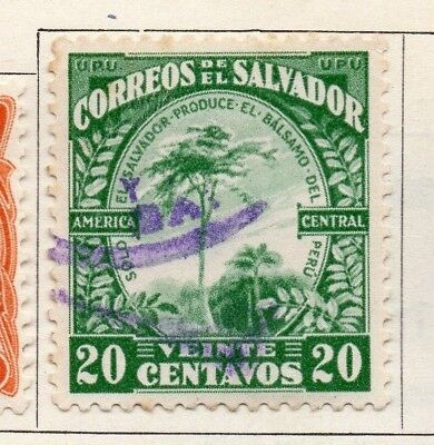 Salvador 1924-25 Early Issue Fine Used 20c. 150564