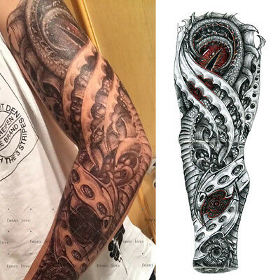 Full Arm Dragon Eye Temporary Tattoo Sleeve Stickers Body Art 3D  Waterproof