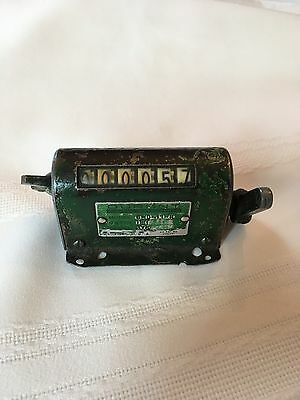 Vintage  Durant 6 Digit Mechanical Stroke Activated Counter
