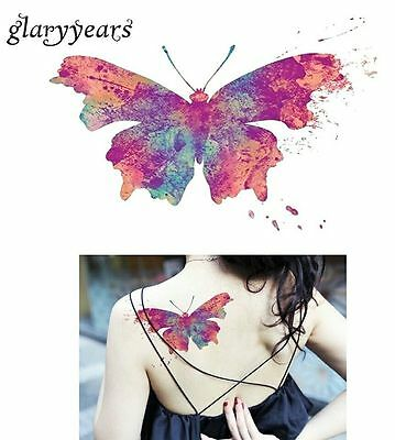 Butterfly Animal Temporary Tattoo Sticker 3D Waterproof 3d Body Art  Adults