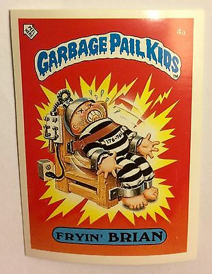 Fryin Brian 4a Garbage Pail Kids (1985) UK 1st Series Sticker/1980's/Vintage