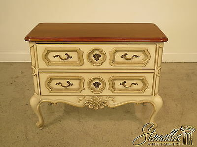 36784E: DREXEL 2 Drawer Paint Decorated Commode Chest