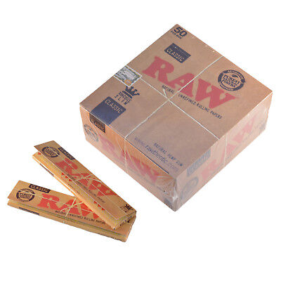 RAW Rolling Papers King Size Slim Classic Natural Unrefined Skins 110mm
