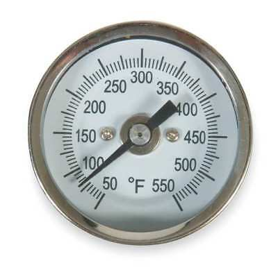1NFX7 Bimetal Thermom, 2 In Dial, 50 to 550F