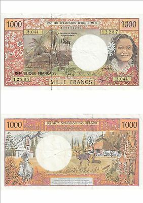 Billet banque FRENCH PACIFIC TAHITI POLYNESIE OUTRE-MER 1000 F état voirscan 287