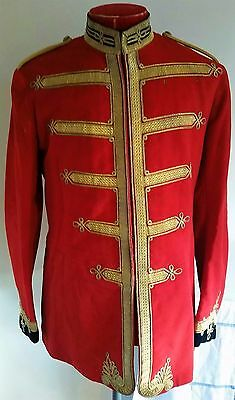 Fantastic Victorian Edwardian WW1 Scarlet Guards Style Bands Tunic Uniform
