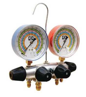 JB INDUSTRIES 25708 Manifold Gauge, 4-Valve