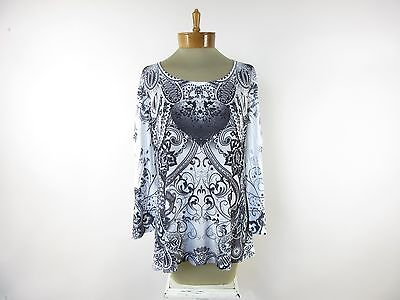 STYLE & CO. Women's Scoop Neck Long Sleeve Blouse Top SIZE XL Extra Large NEW