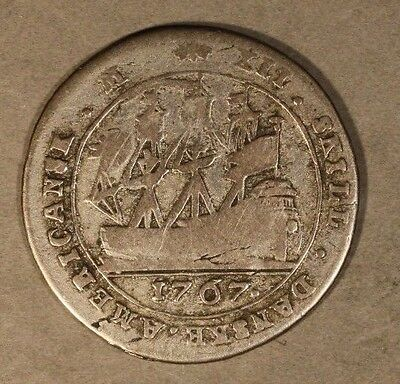 1767 Danish West Indies 12 Skilling Circulated        ** FREE U.S SHIPPING **