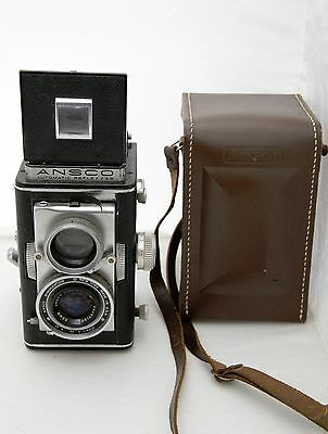 Vintage ANSCO Automatic Twin Lens Reflex Camera 3.5 with 83mm Lens