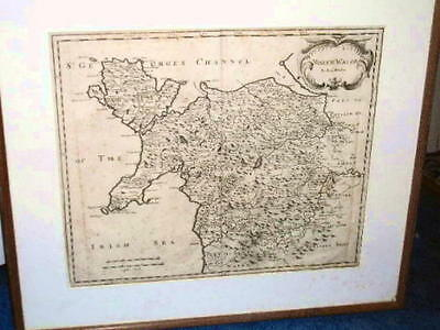 1695 Original Robert Morden Map Of North Wales