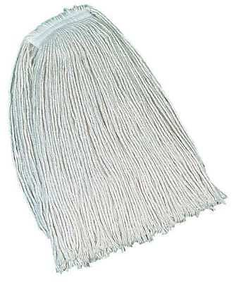 Value Pro 100% Post Industrial Cotton Wet Mop, White RUBBERMAID FGV11900WH00
