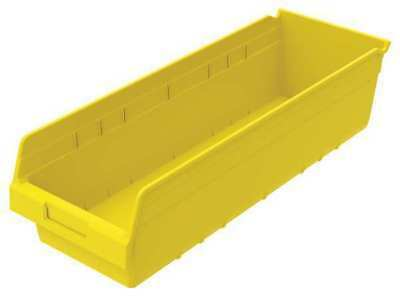 Shelf Bin,8-3/8 In. W,6 In. H,Yellow AKRO-MILS 30084YELLO