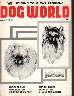 Dog World Magazine January 1969, Pomeranian and Yorkshire Terrier Cover, History