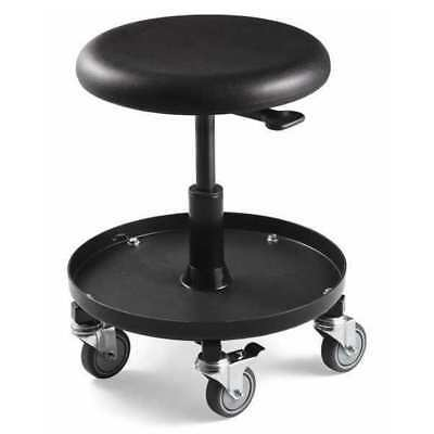 Bevco Backless Round Stool, 300 lb. Weight Limit, Black, 5 Casters, 3057