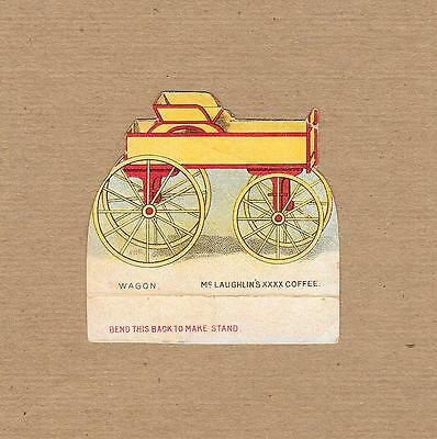 McLaughlin's Coffee~Spoke Wheel Delivery Wagon~Bend Back Victorian Trade Card