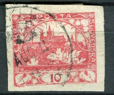 CZECHOSLOVAKIA;  1918 early Imperf issue used 10h. value