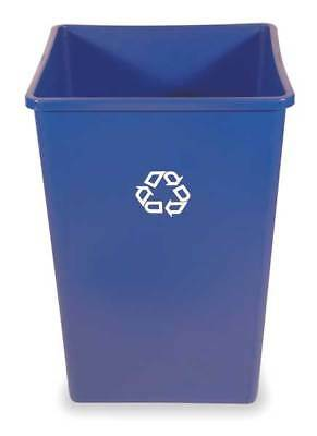 35 gal. Recycling Container Square, Blue Plastic RUBBERMAID FG395873BLUE