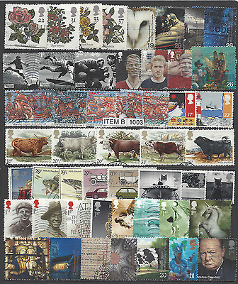 50 different good used GB commemorative stamps some  high value. Item B/1003