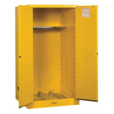 JUSTRITE 896200 Flammable Cabinet, Vertical, 55 Gal., YLW
