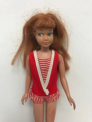 1963 Mattel SKIPPER Barbie Sister Red Head with Blue Eyes