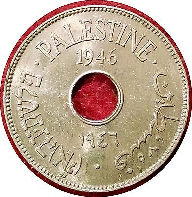 Palestine 1946 10 Mils ~ Scarce Date ~ Choice Uncirculated