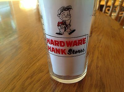 Vintage Hardware Hank Stores Measuring Glass ~ Promo~ Advertising