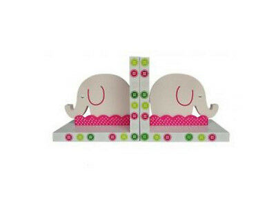 Book Ends - Pink Elephant  - Childrens Bookends Kids Room / Nursery Decor