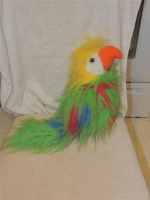 Beautiful Plush Stuffed Parrot Macaw Tropical Bird Red Green Yellow Colors