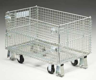 Collapsible Bulk Container, Silver ,Nashville Wire, JR1C