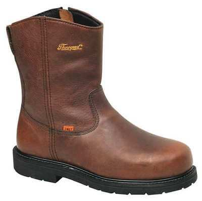Size 9-1/2 Wellington Boots, Men's, Brown, Steel Toe, W, Thorogood Shoes