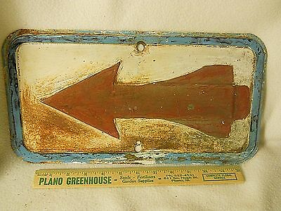 """Old Steel Sign-Arrow Sign-Old Paint-15 by 8"""""""