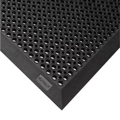 NOTRAX 599S0023BL Rubber Entrance Mat, Black, 27In x 3 ft.