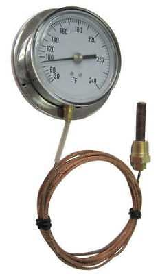 12U634 Analog Panel Mt Thermometer, 0 to 100F