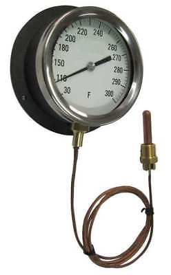 12U659 Analog Panel Mt Thermometer, 0 to 100F