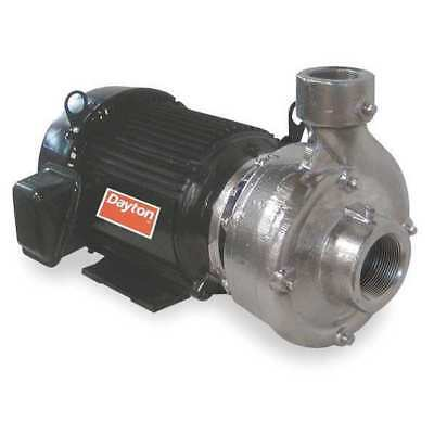 Stainless Steel 2 HP Centrifugal Pump 208-230/460V DAYTON 12A055
