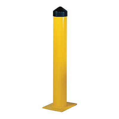 Bollard Round,36 H in.,Yellow ZORO SELECT 3JJH7