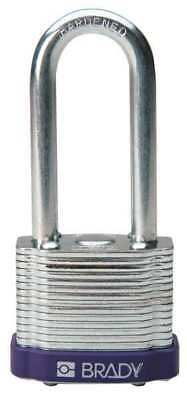 BRADY 123279 Padlock, KA, 2 In H, 5 Pin, Steel, PK 6