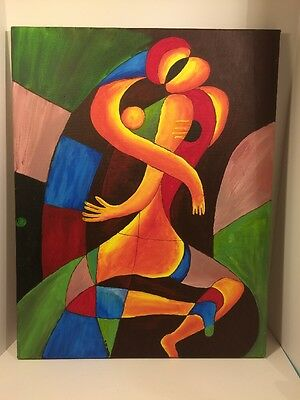 Original Modernist Abstract Oil Painting Signed NGHIA