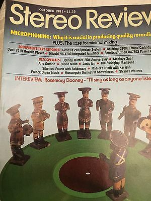 Vintage 1981 Stereo Review Magazines - Lot of 3