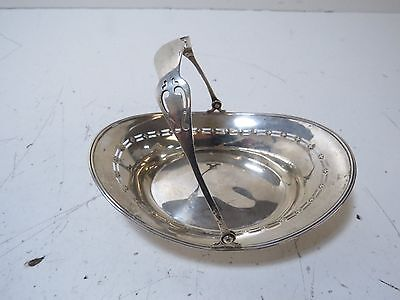 (#4) Antique SSMC 925 Solid Sterling Silver Candy/Nut Dish w/ Handle 67g