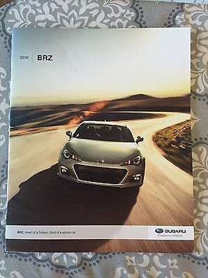 2016 Subaru BRZ OEM USA Brochure Catalog