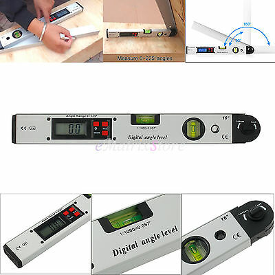 Digital Protractor Goniometer Angle Level Finder Measuring Gauge Ruler 0~225° US